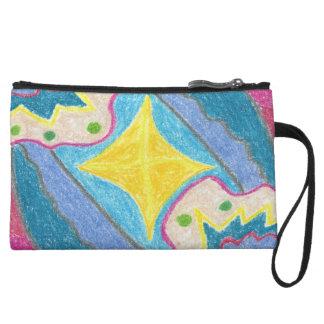 Ondas y bolso accesorio estilizado de la isla