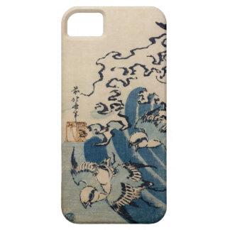 Ondas y pájaros, c.1825 (impresión del woodblock funda para iPhone SE/5/5s