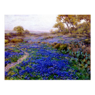 Onderdonk - Bluebonnets at Twilight, North of San Postcard