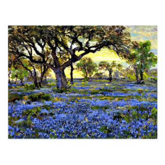 Onderdonk - Old Live Oak Tree and Bluebells Postcard