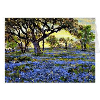 Onderdonk - Old Live Oak Tree and Bluebonnets Card