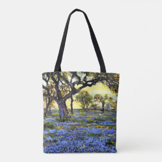 Onderdonk - Old Live Oak Tree and Bluebonnets Tote Bag