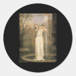 Ondina de John William Waterhouse Pegatina Redonda
