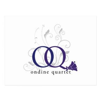 Ondine Quartet logo postcards