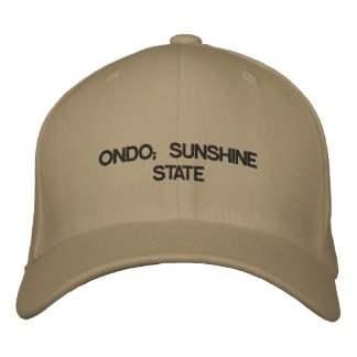 ONDO; SUNSHINE STATE EMBROIDERED HAT