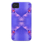 Ondulación azul Case-Mate iPhone 4 carcasa