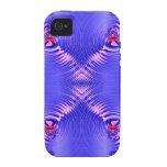 Ondulación azul Case-Mate iPhone 4 funda