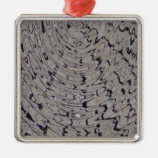 ondulación de la grieta del fango adorno navideño cuadrado de metal
