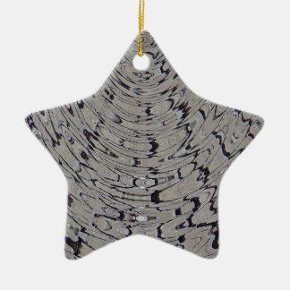 ondulación de la grieta del fango adorno navideño de cerámica en forma de estrella
