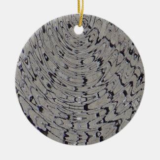 ondulación de la grieta del fango adorno navideño redondo de cerámica