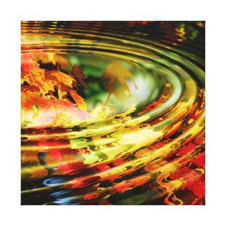 Ondulación de la hoja del otoño impresión en lienzo