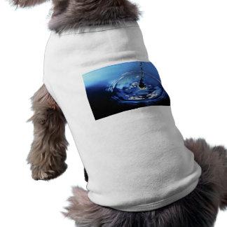 Ondulación del agua camisetas de perro