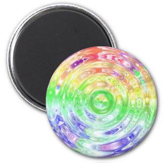 Ondulación del arco iris imán redondo 5 cm