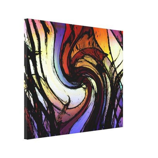 Ondulación del arco iris impresión en lona estirada