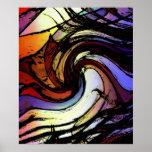 Ondulación del arco iris poster