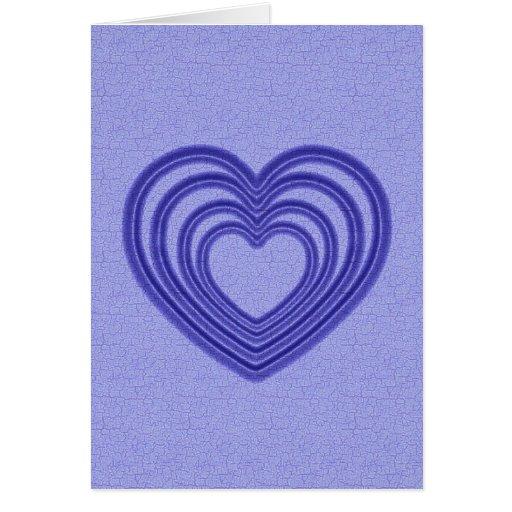 Ondulación del corazón - azul tarjeta de felicitación