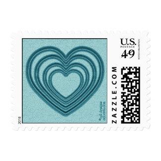 Ondulación del corazón (robe) sello postal