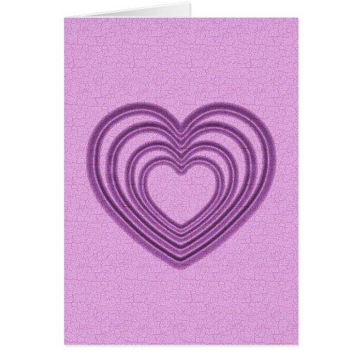 Ondulación del corazón - rosa tarjeta de felicitación