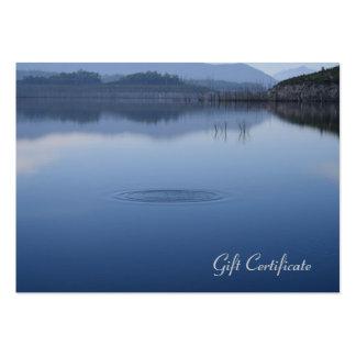 Ondulación en el agua azul inmóvil - vale tarjetas de visita grandes