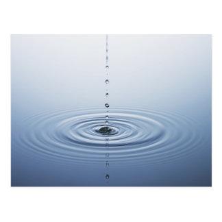Ondulación en el agua tarjeta postal