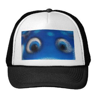 Ondulación feliz del azul de la pastinaca de los o gorro de camionero