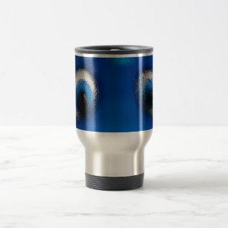 Ondulación feliz del azul de la pastinaca de los o tazas de café