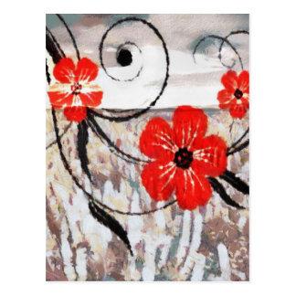 Ondulación floral postales