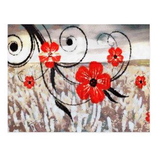 Ondulación floral tarjetas postales