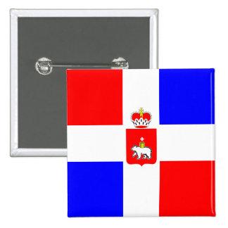 Ondulación permanente Krai, bandera de Rusia Pin Cuadrado