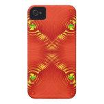 ondulación roja 3 iPhone 4 Case-Mate cobertura