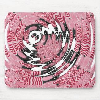 Ondulación rosada y negra tapete de ratones