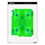 Ondulación verde clara 4 skins para eliPad 2