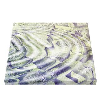 Ondulaciones abstractas del agua impresión en lienzo