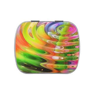 Ondulaciones abstractas del color de agua jarrones de dulces
