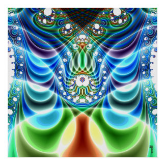 ondulaciones Adicional-dimensionales V impresión d Posters