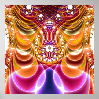 ondulaciones Adicional-dimensionales V impresión d Poster