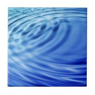Ondulaciones apacibles del agua azul teja