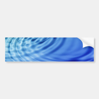 Ondulaciones apacibles del agua azul pegatina para auto