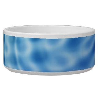 Ondulaciones apacibles del agua azul tazón para perro
