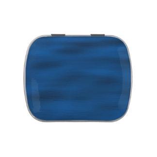 Ondulaciones azul marino del agua latas de caramelos