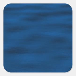Ondulaciones azul marino del agua colcomanias cuadradas