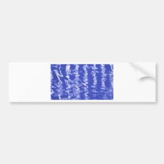 Ondulaciones azules pegatina para auto