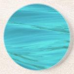 Ondulaciones azules del agua del verano de la agua posavasos diseño