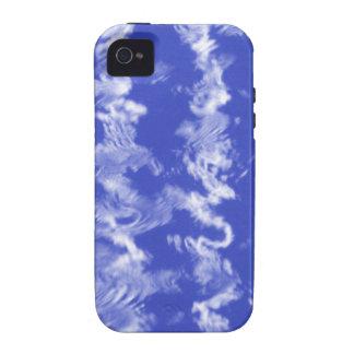 Ondulaciones azules iPhone 4/4S carcasas