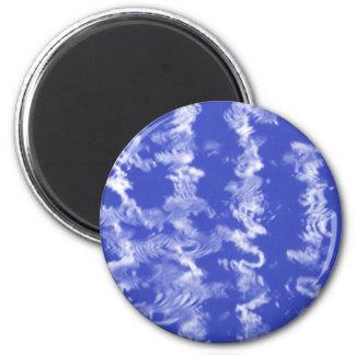 Ondulaciones azules imán redondo 5 cm
