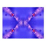 ondulaciones azules postal