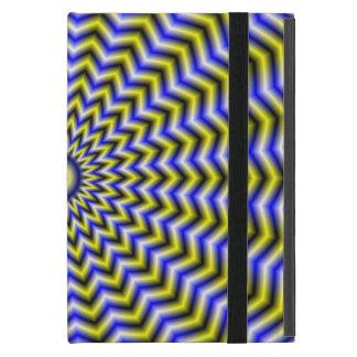 Ondulaciones azules y amarillas del zigzag iPad mini fundas