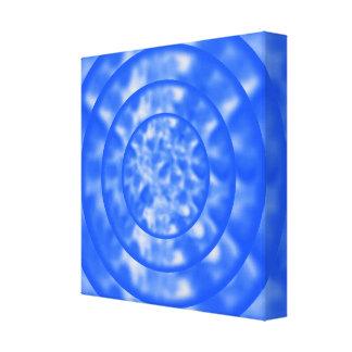 Ondulaciones azules y blancas abigarradas impresión en lienzo