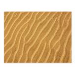 Ondulaciones de la arena tarjeta postal