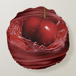 Ondulaciones de la cereza cojín redondo